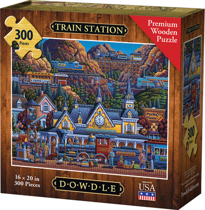 Train Station Wooden Puzzle