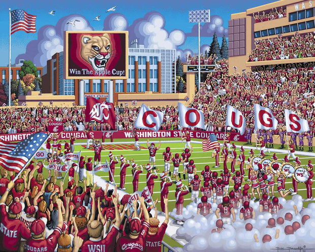 Washington State Cougars - Dowdle Wooden Puzzle
