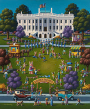 White House Easter - Dowdle Wooden Puzzle