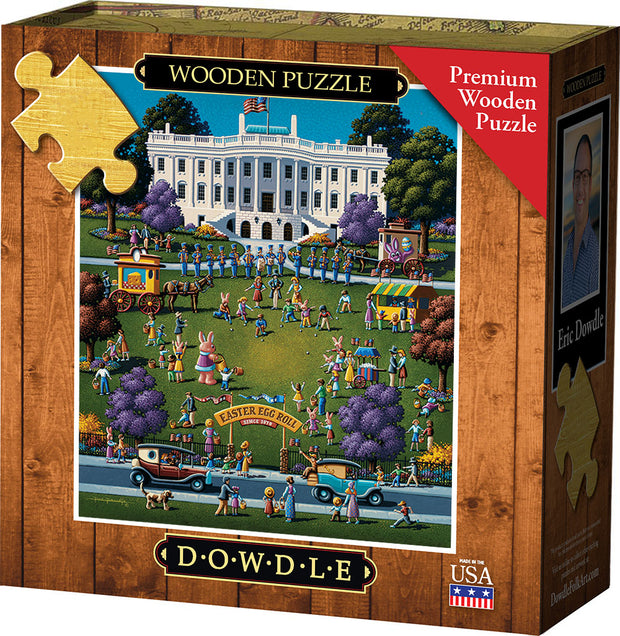 White House Easter - Wooden Puzzle