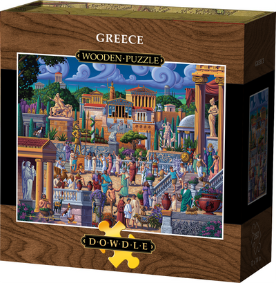 Greece Wooden Puzzle