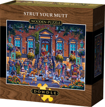 Strut Your Mutt Wooden Puzzle