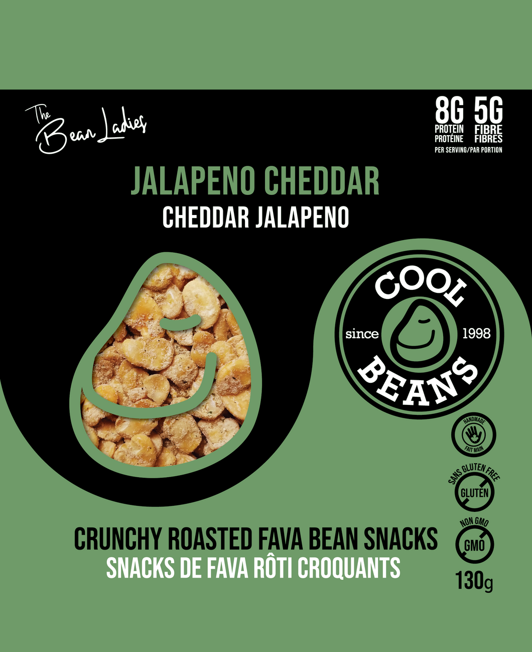'Jalapeno Cheddar' Roasted Bean Snacks