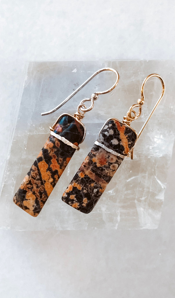 best earrings fall rust gold boho bar handmade