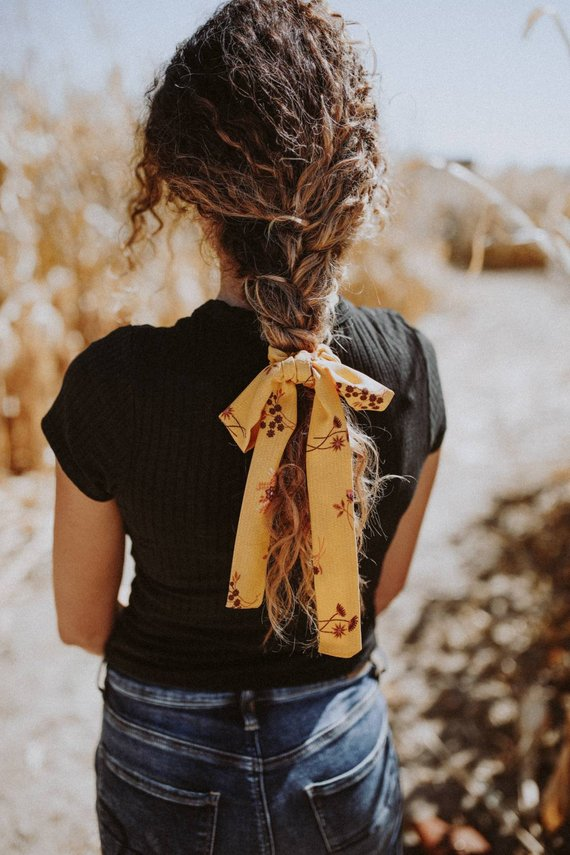 mustard yellow accessory boho hair scarf