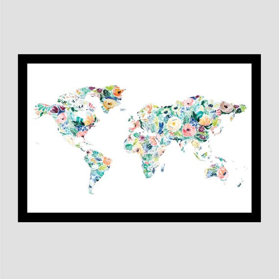 gift for traveler scratch off map artwork travel wall art