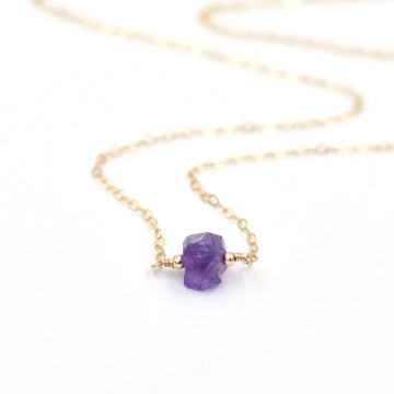 Topaz & Pearl Necklaces Amethyst Organic Stone Necklace