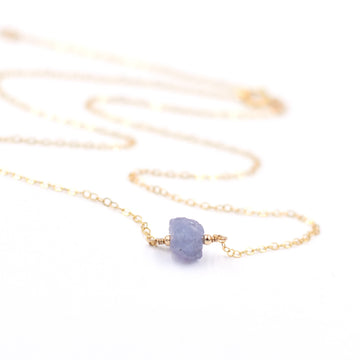 Topaz & Pearl Necklaces Tanzanite Organic Stone Necklace