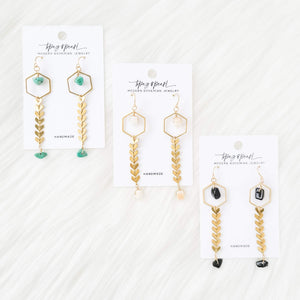 Topaz & Pearl Earrings Limited Edition Willow Earrings, Turquoise