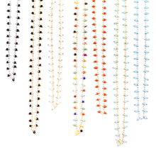 Load image into Gallery viewer, Topaz & Pearl Necklaces Red Confetti Beaded Short Necklace