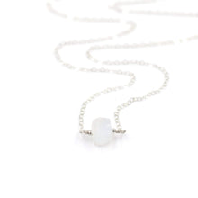 Load image into Gallery viewer, Topaz & Pearl Birthstone Necklaces Sterling Silver / Single Moonstone Organic Stone Necklace