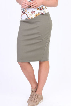 Sage Green Pencil Skirt