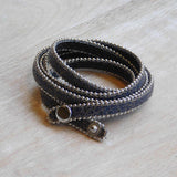 Faux Leather Bracelet-Black