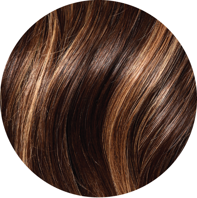 #4/27 Medium Brown and Caramel Volume Weft