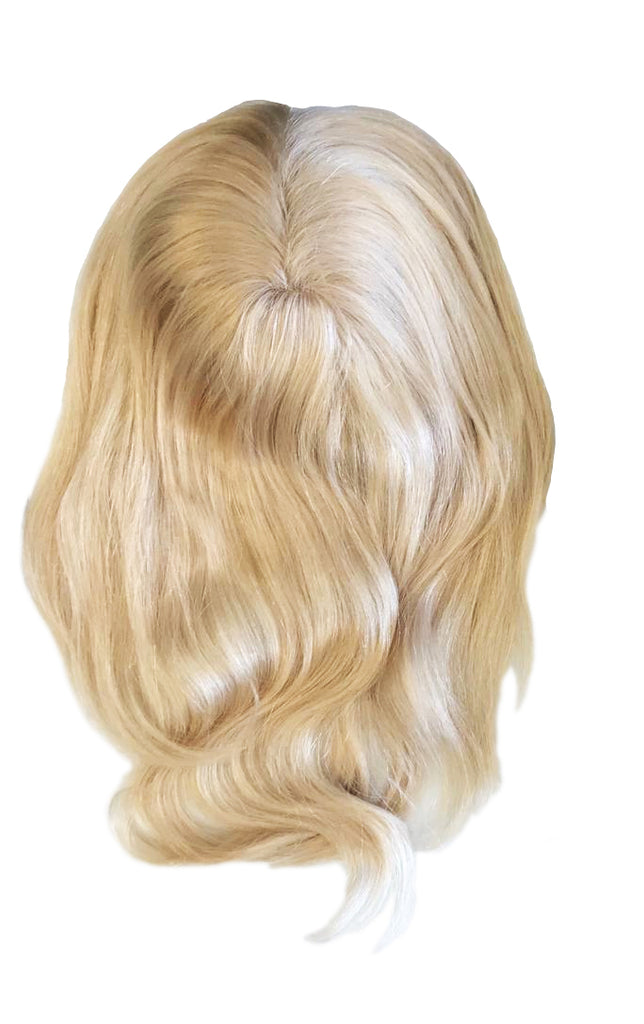 Mulberry Topper Halo Hair Extensions Blonde 12""