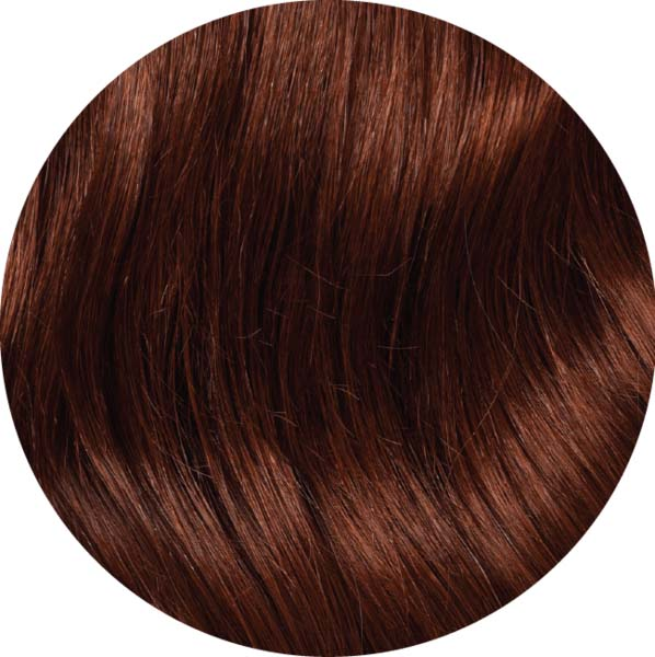 "Mulberry Clip In Hair Extensions Auburn Red 20"" Colour Swatch"