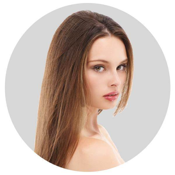 "Mulberry Clip In Hair Extensions Chestnut Brown  20"" Front"