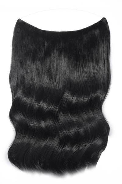 Mulberry Halo Hair Extensions Jet Black 20""