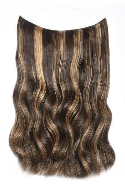 Mulberry Halo Hair Extensions Chocolate Copper Brown 20""