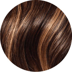 "Mulberry Clip In Hair Extensions Chocolate Copper Brown  20"" Colour Swatch"