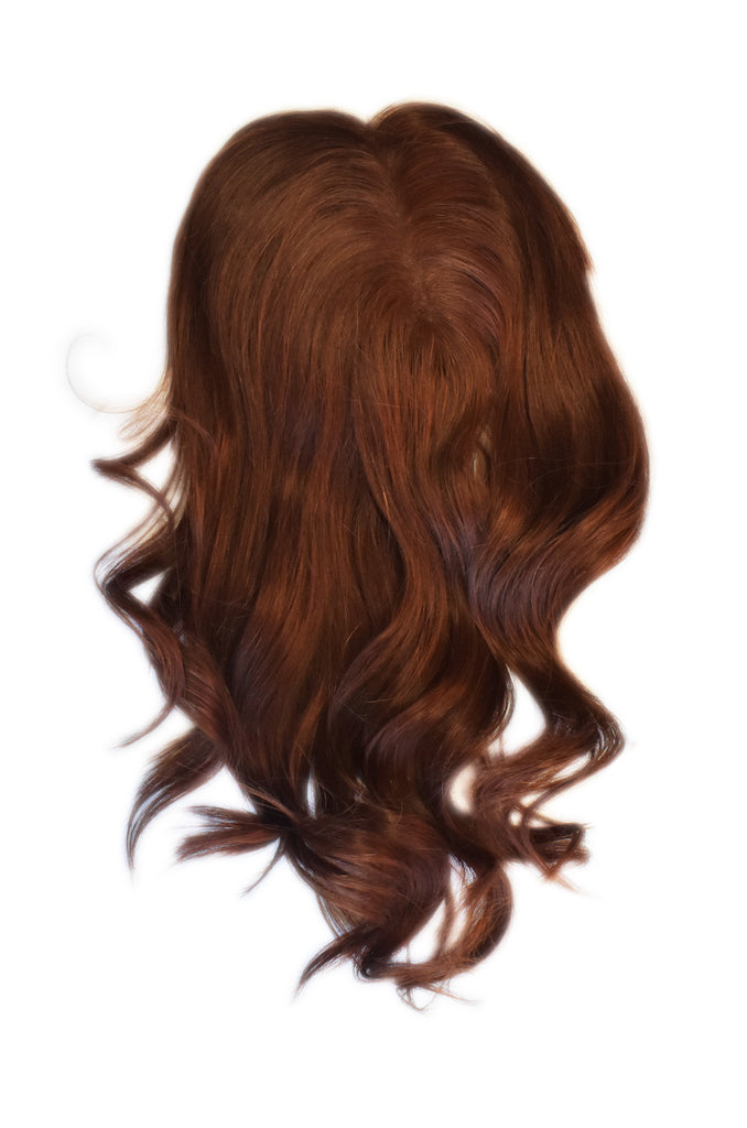 Mulberry Topper Halo Hair Extensions Copper 12""