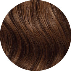 "Mulberry Clip In Hair Extensions Ash Brown 20"" Colour Swatch"