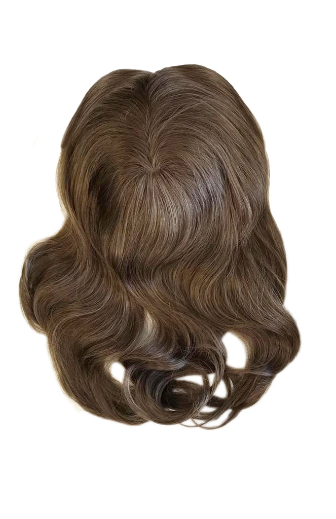 Mulberry Topper Hair Extensions Ash Brown 20""
