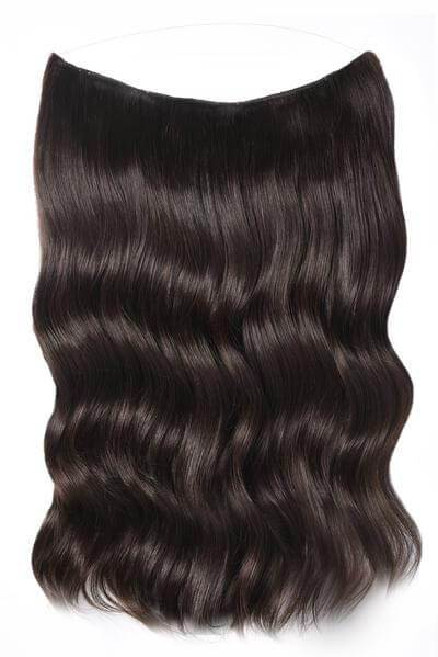 Mulberry Halo Hair Extensions Mocha Brown 20""