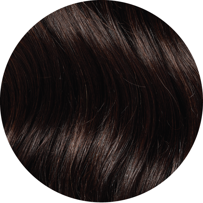 "Mulberry Halo Hair Extensions Mocha Brown 20"" Colour Swatch"