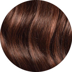 "Mulberry Topper Hair Extensions Chocolate Red Brown 12"" Colour Swatch"