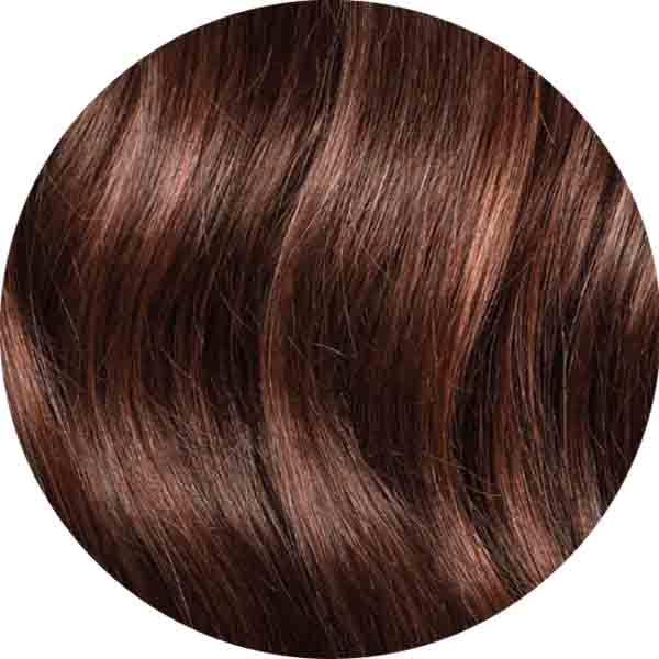 "Mulberry Halo Hair Extensions Chocolate Red Brown 20"" Colour Swatch"