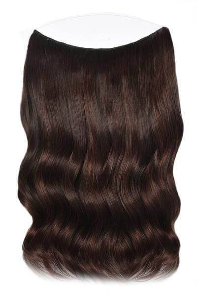 Mulberry Halo Hair Extensions Chocolate Red Brown 20""