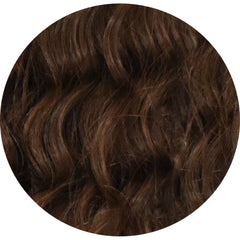 "Mulberry Curly Halo Hair Extensions Chocolate Brown 18"" Colour Swatch"
