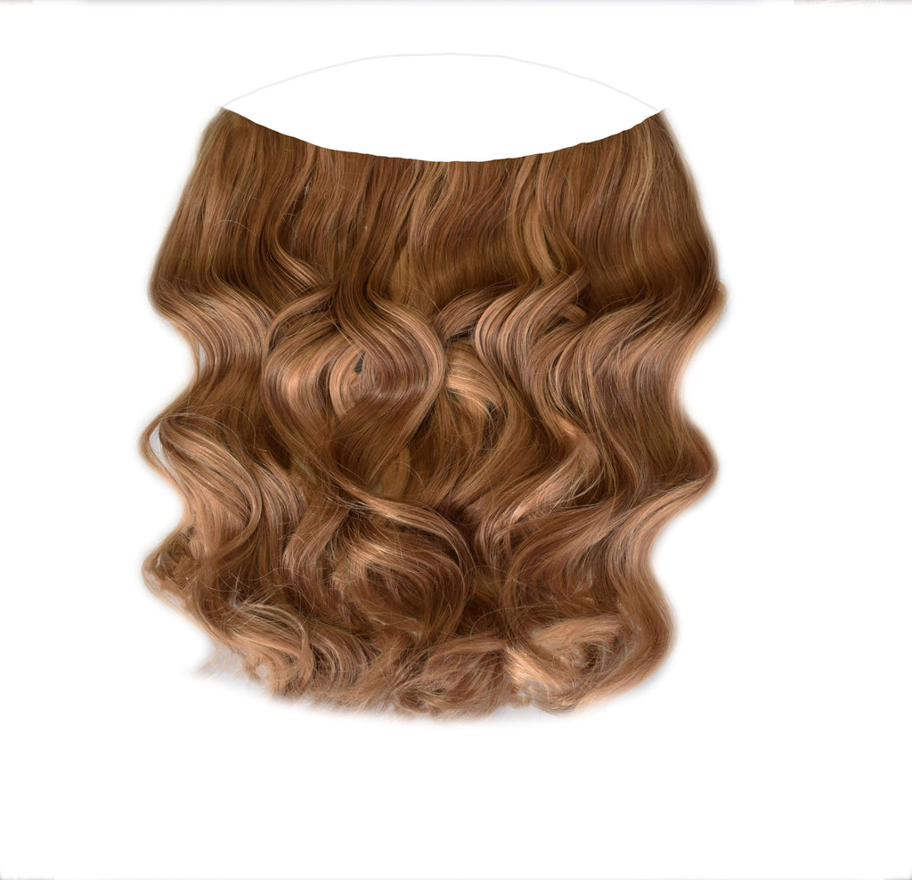 Mulberry Halo Hair Chestnut Brown Extensions 20""