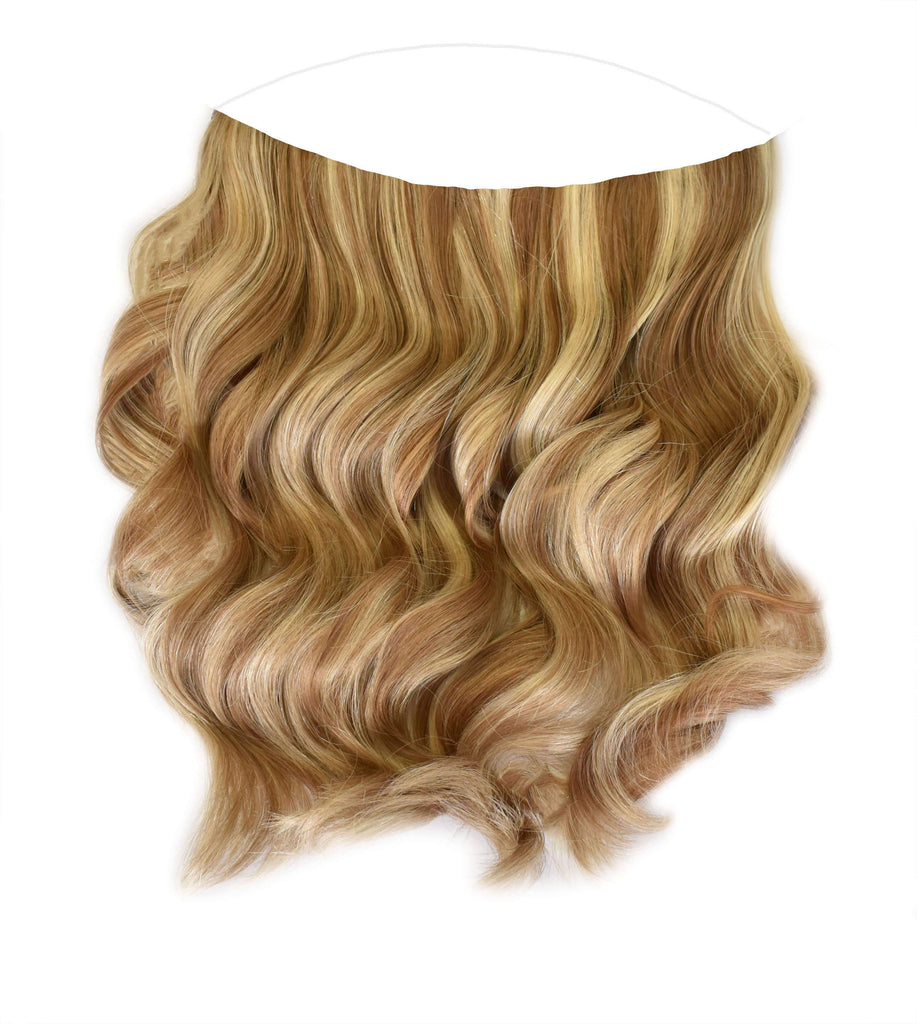 Mulberry Halo Hair Extensions Chestnut Brown with Blonde 20""