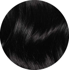 "Mulberry Topper Hair Extensions Jet Black 20"" Colour Swatch"