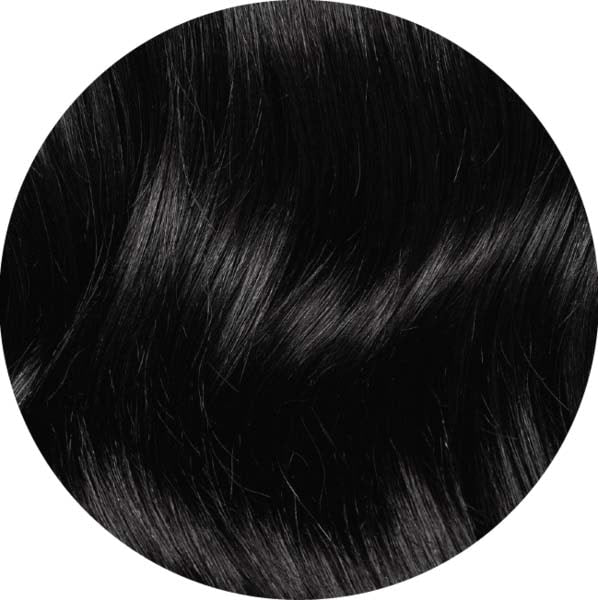 "Mulberry Halo Hair Extensions Jet Black 20"" Colour Swatch"