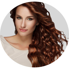 "Mulberry Curly Halo Hair Extensions Copper 18"" Colour Swatch"