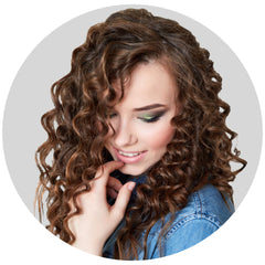 "Mulberry Curly Halo Hair Extensions Chocolate Copper Brown 18"" Colour Swatch"