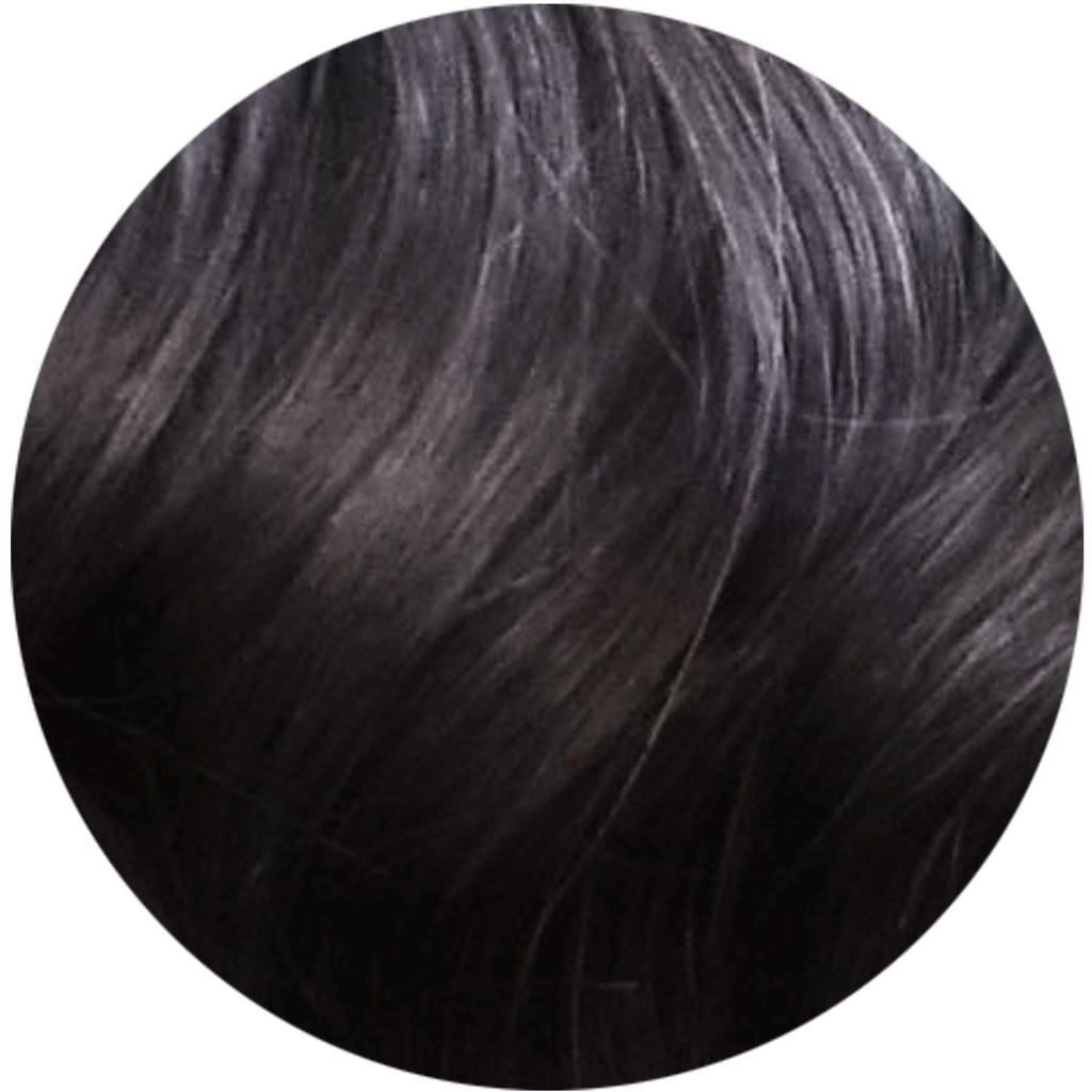 "Mulberry Topper Hair Extensions Natural Black 20"" Colour Swatch"