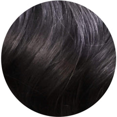 "Mulberry Clip In Hair Extensions Natural Black 20"" Colour Swatch"