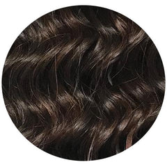 "Mulberry Curly Halo Hair Extensions Chocolate Red Brown 18"" Colour Swatch"