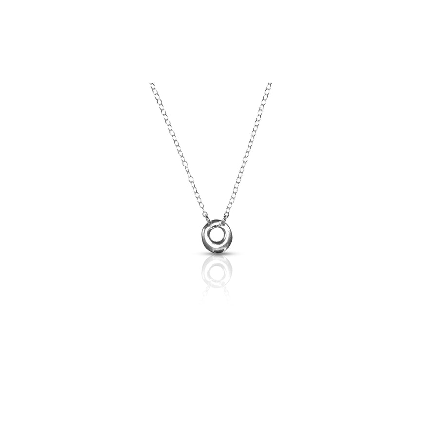 tiny circle necklace
