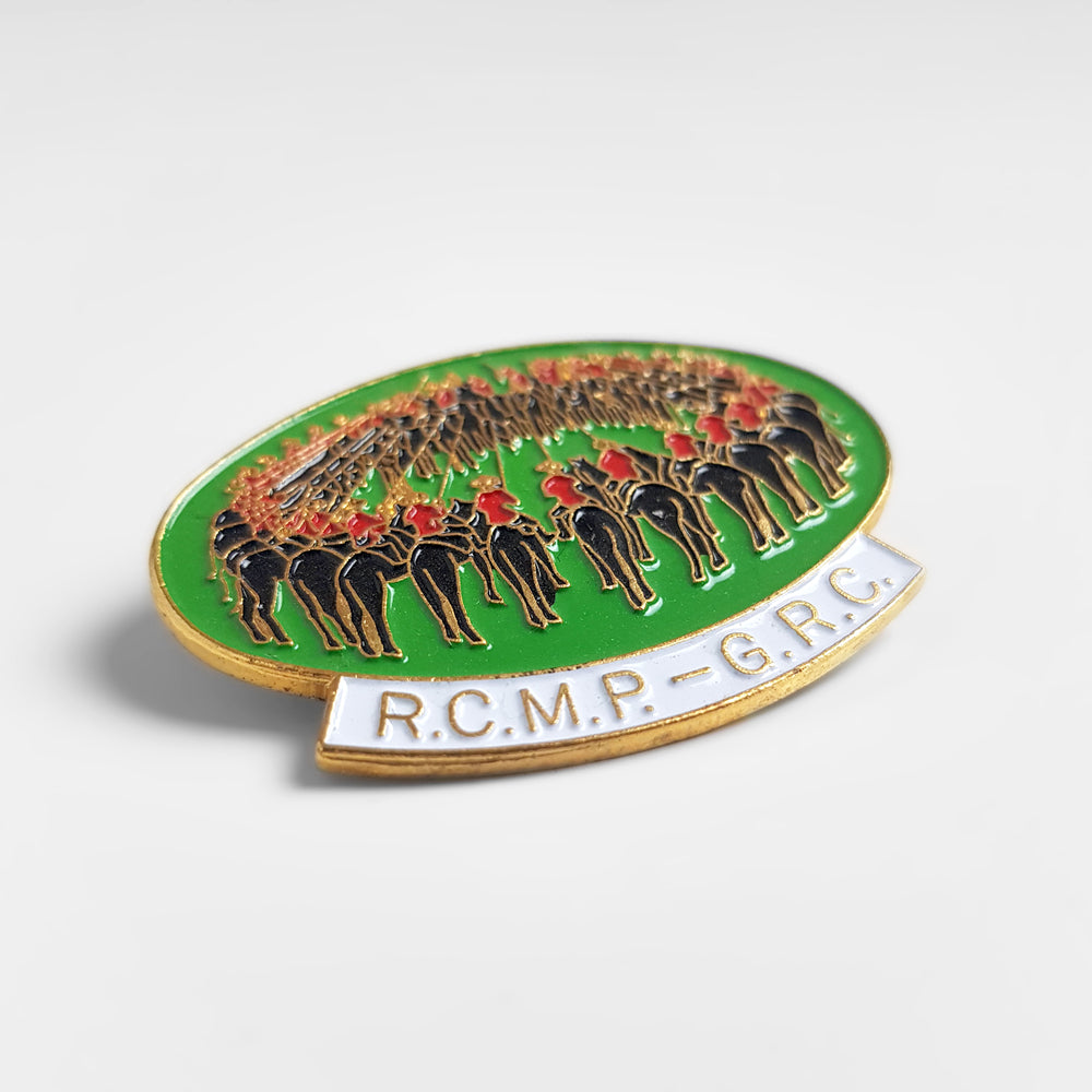 Vintage R.C.M.P - Enamel Pin Badge - Green - Headlock