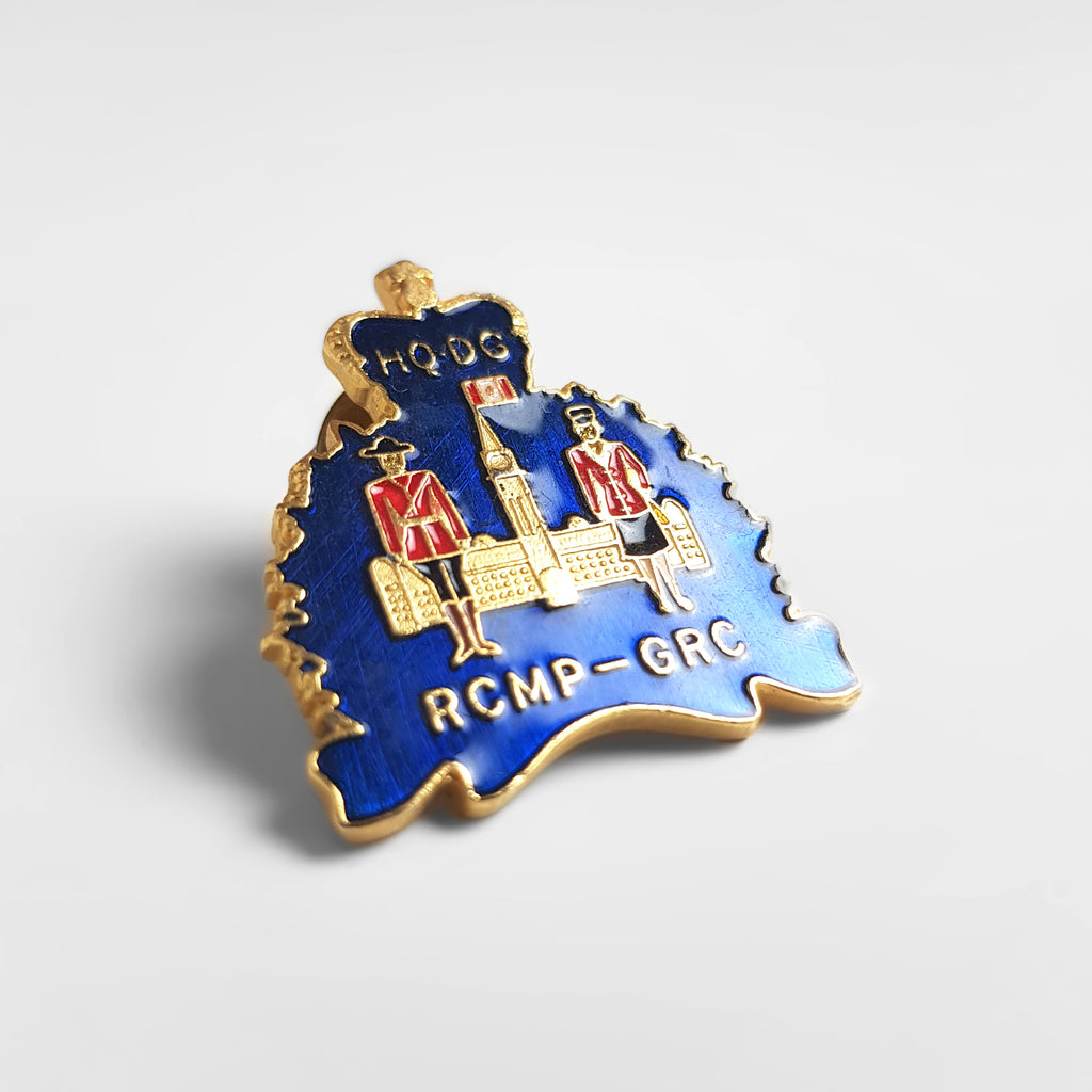Vintage R.C.M.P - Enamel Pin Badge - Blue - Headlock