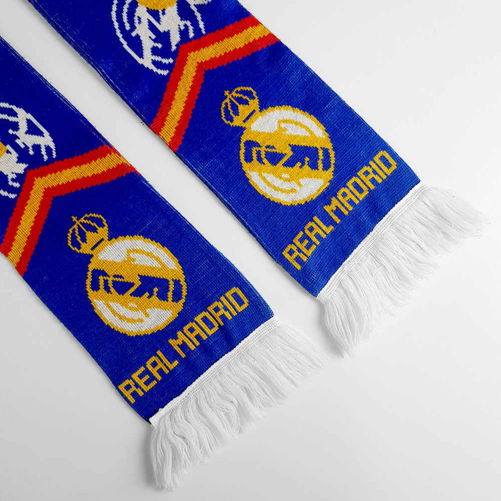 Vintage Real Madrid '100 Years' Football Scarf - Blue