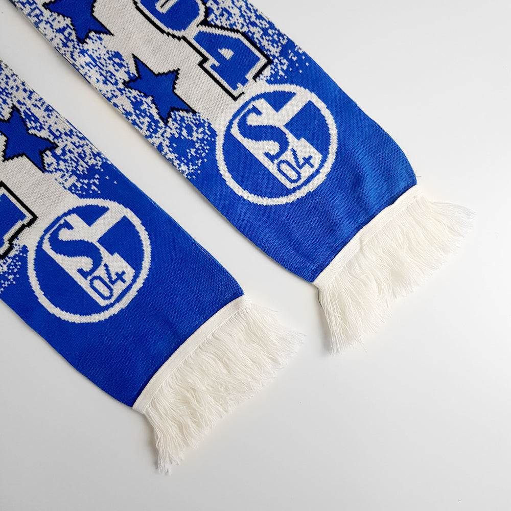 Vintage Schalke FC Football Scarf - Blue