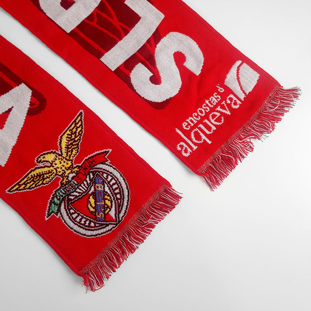 Vintage Slbenfica FC Scarf - Red