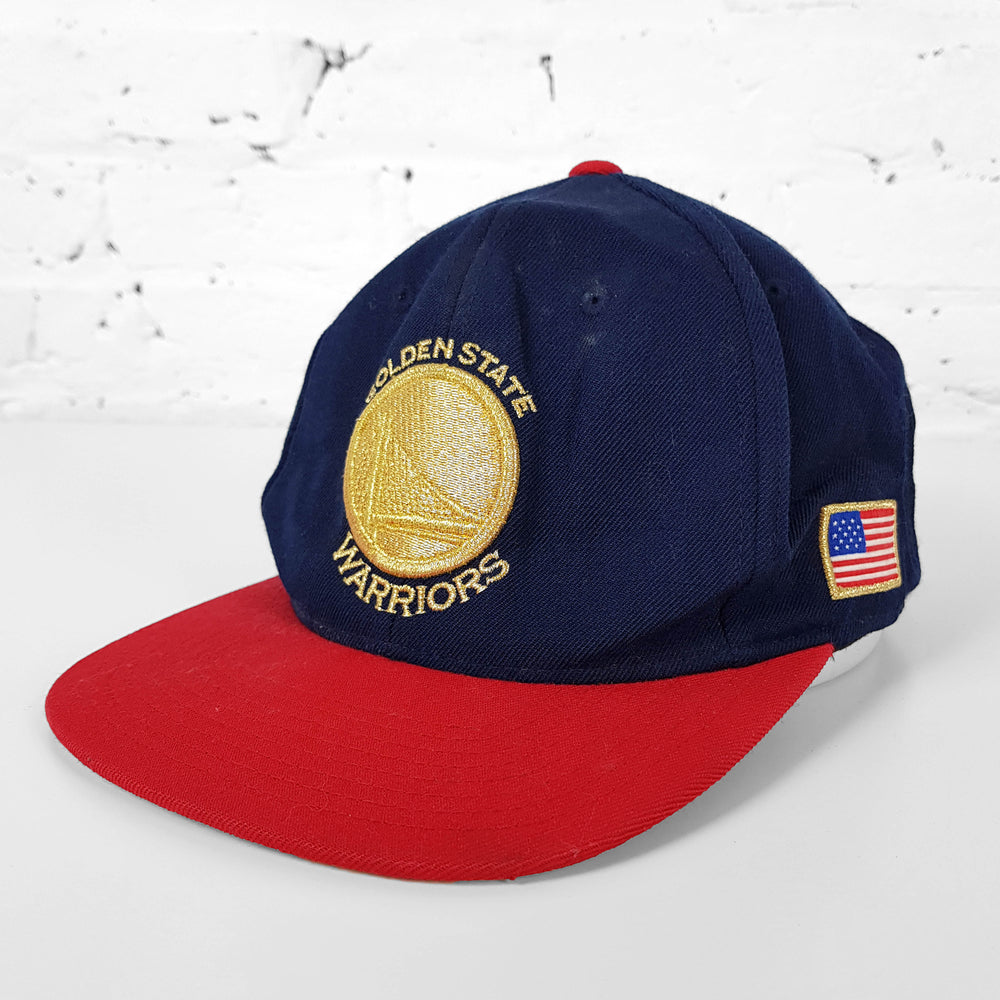 Vintage NBA Golden State Warriors Cap - Blue/Red - Headlock