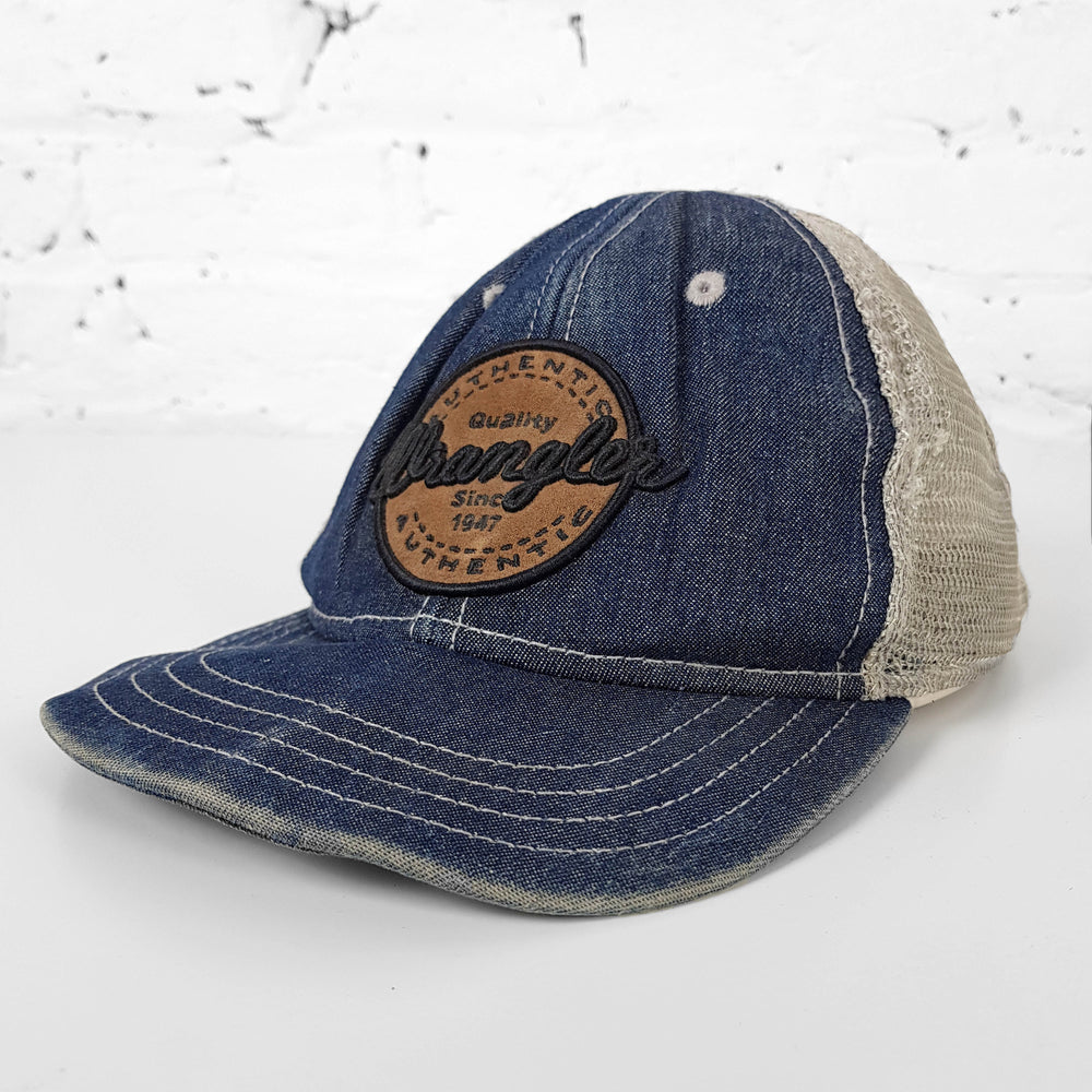 Vintage Wrangler Denim Cap - Blue - Headlock